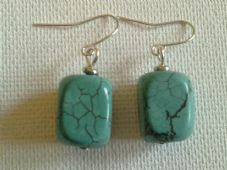 Turquoise cuboid earrings